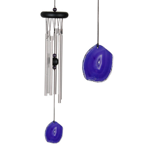 Agate Wind Chime by Woodstock -Small Purple