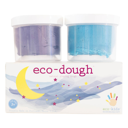 Eco-Dough-2 Pack MOON Colors by Eco-Kids