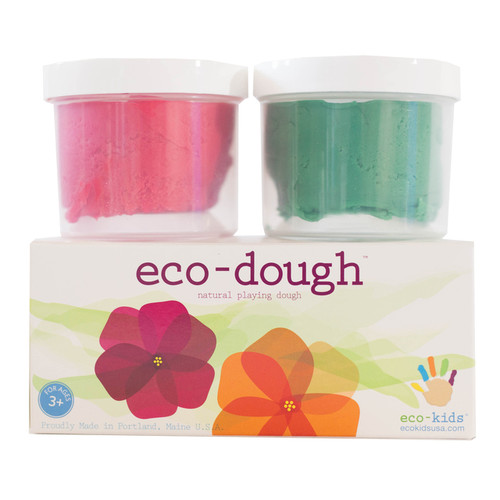 Eco-Dough-2 Pack Flower Colors by Eco-Kids