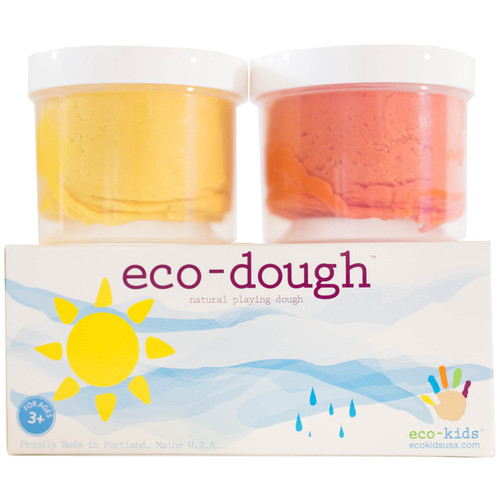 Eco-Dough-2 Pack Sun Colors by Eco-Kids