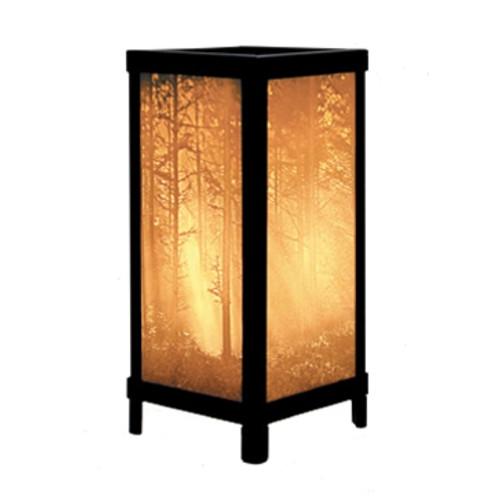 "13"" Woodland Sunbeams Lithoplane Luminare Lamp"