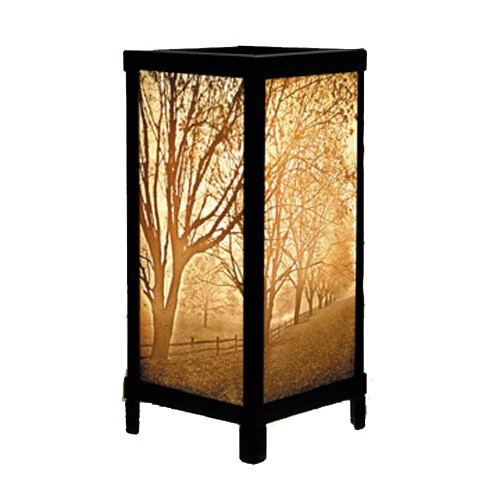 "13"" Misty Meadows Lithoplane Luminare Lamp"