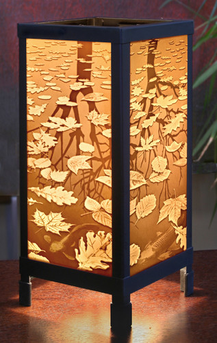 "13"" Still Reflections Lithoplane Luminaire Lamp"