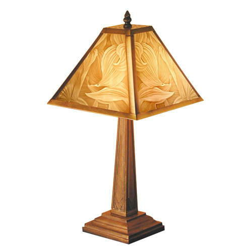 "19"" Hosta Lithoplane Mission Table Lamp"