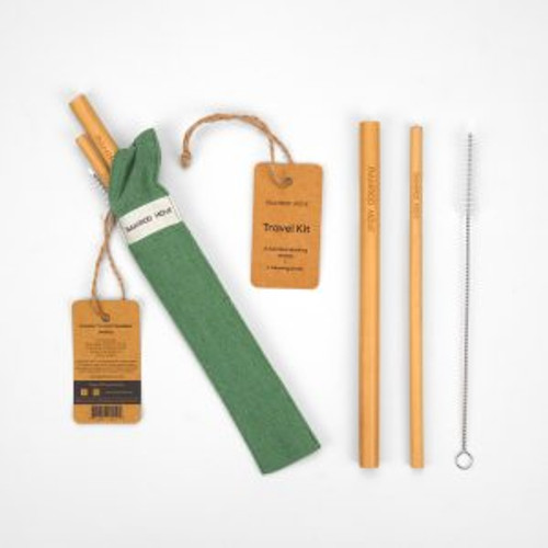 Reuseable Straws ~ Travel Kit  by Bamboo Move