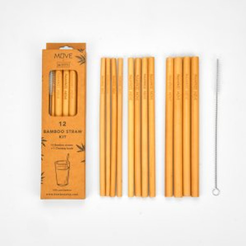 Reuseable Straws ~ Box Kit 12 by Bamboo Move