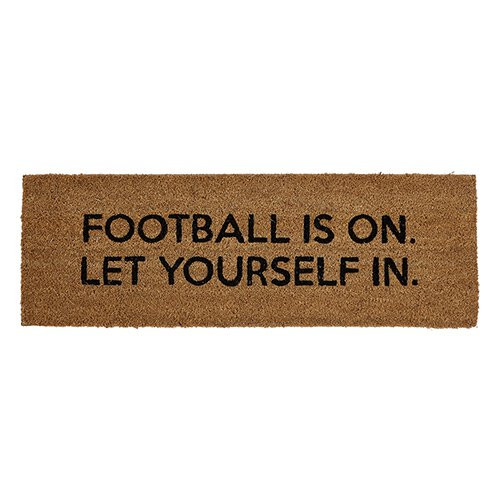 """Football Is On""  Doormat by 47th & Main"