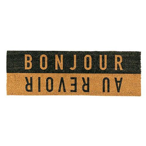 """""""Bonjour Aurevoir"""" Doormat"""