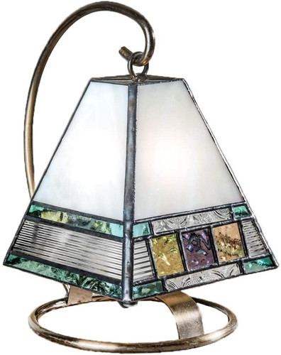 Tiffany Styled Stained Glass Night Light Lamp Craftsman Style