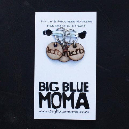 Stitch Markers Knitter Helper KFB-Knit Front Back By Big Blue Moma