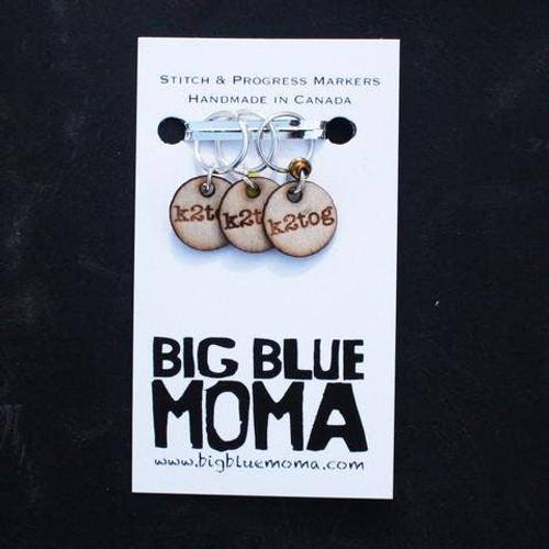 Stitch Markers Knitter Helper Tog-Knit 2 TogetherBy Big Blue Moma