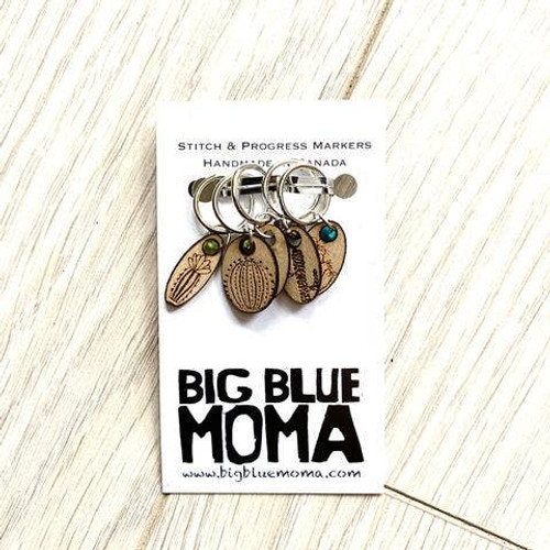 Stitch Marker Succulents - Set of Five By Big Blue Moma