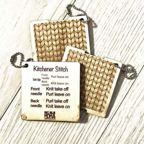 Kitchener Stitch - Cheat Sheet By Big Blue Moma