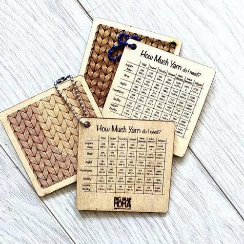 How Much Yarn - Cheat Sheet By Big Blue Moma