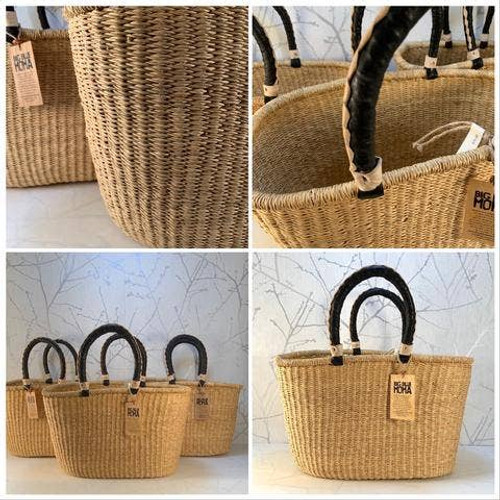 Large Whatever You Need to Carry  Basket with Handles By Big Blue Moma