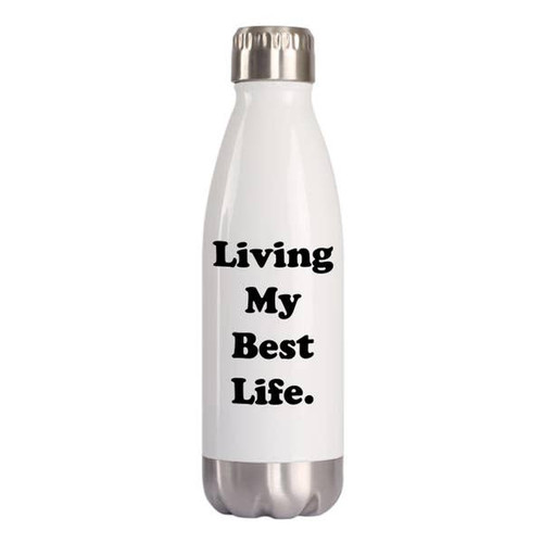 """Living My Best Life"" 16oz Water Bottle"