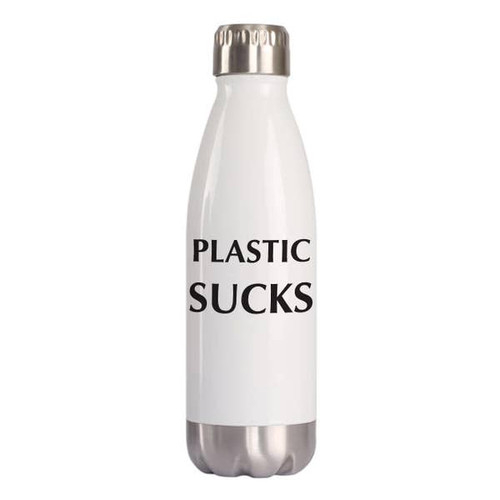 """Plastic Sucks"" 16oz Water Bottle"