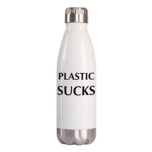 """Plastic Sucks"" 16oz Water Bottle"
