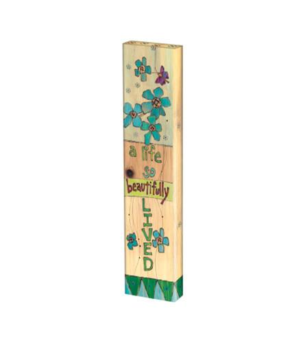 """A Beautiful Life 13"""" Mini Art Pole"""