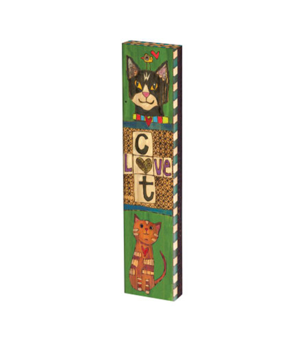 """Lessons From My Cat 13"""" Mini Art Pole"""
