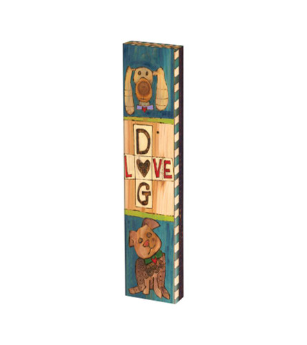 """Lessons From My Dog 13"""" Mini Art Pole"""