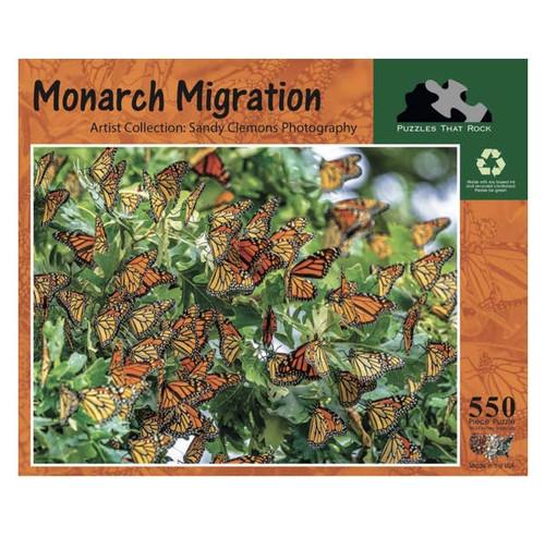Monarch Migration 550 Piece Jigsaw Puzzle