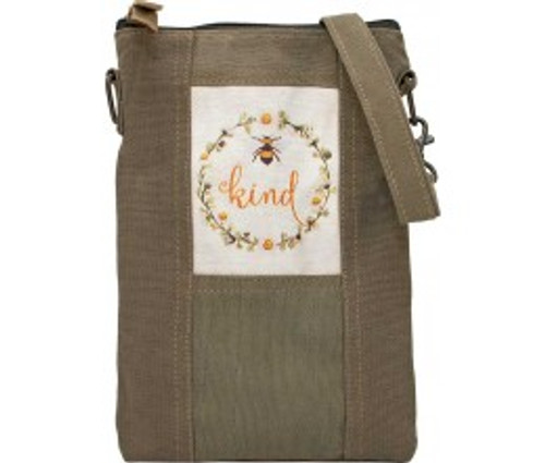 BEE KIND RECYCLED TENT CROSSBODY by Vintage Addiction