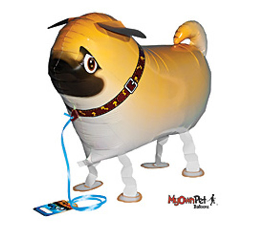 Pug~ My Own Pet Air Walker Mylar Balloon