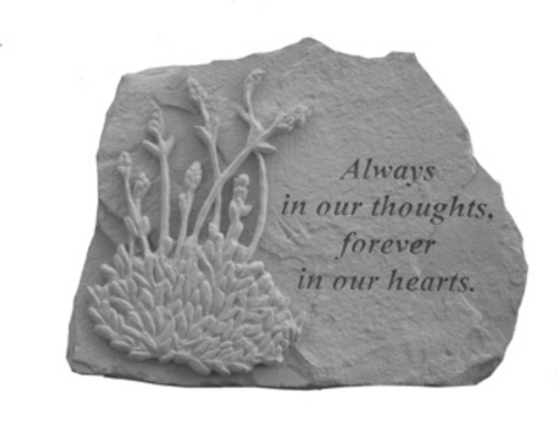Always in our Thoughts w/Lavender...Memory Stone