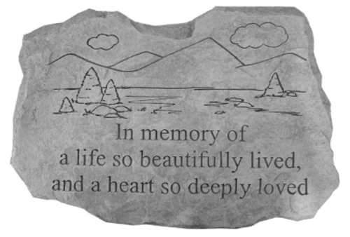 In Memory of a Life Well Lived/Moutains & Trees  Memory Stone