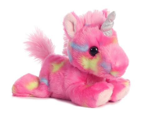 Jellyroll the Small Stuffed Pink Unicorn Bright Fancies by Aurora