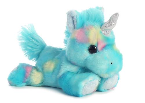 Blueberry Ripple the Small Stuffed Pink Unicorn Bright Fancies by Aurora