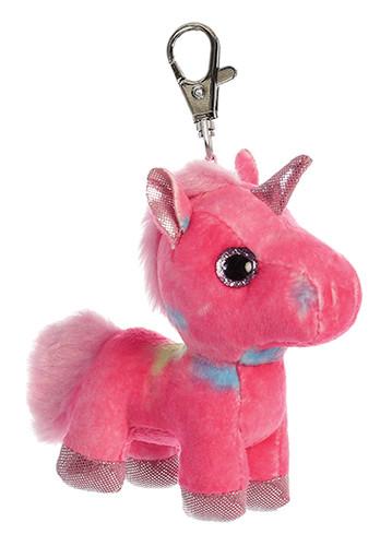 Aurora Sparkle Tales - Rainbow Unicorn Clip-on 5in