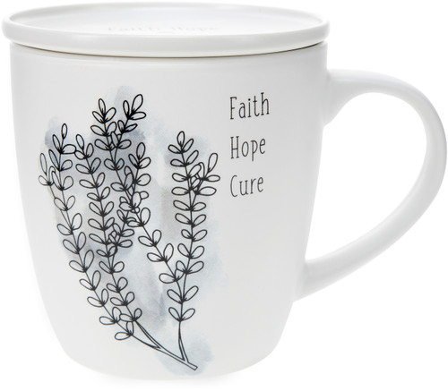 Faith Hope Cure-17 oz with Coaster Lid