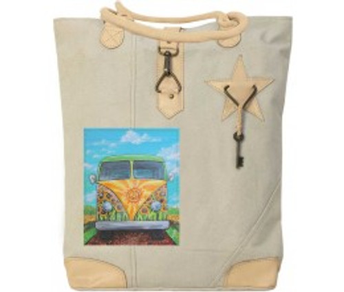 VW You are my Sunshine Vintage Canvas Bag  by Vintage Addiction