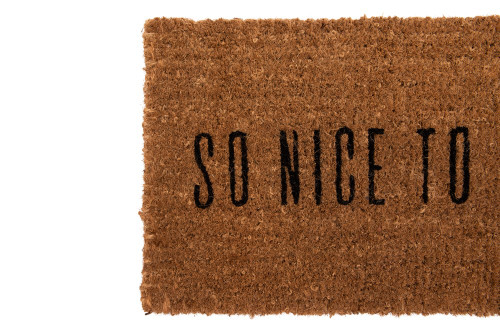 """""""So Nice to see you"""" 32"""" x 16"""" Natural Sisal Doormat by Creative Co-op"""