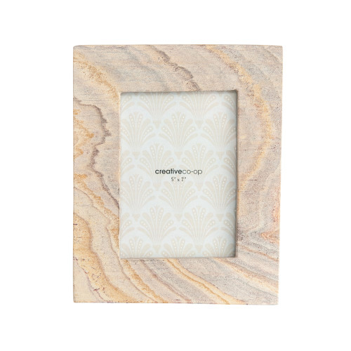 """9"""" X 7"""" Sandstone Photo Frame by Creative Co-op"""