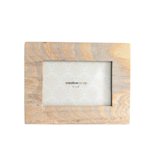 "10"" X 8"" Sandstone Photo Frame by Creative Co-op"
