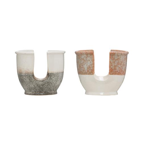 "4"" Stoneware Sponge Holder w/Reactive Glaze by Creative Co-op"