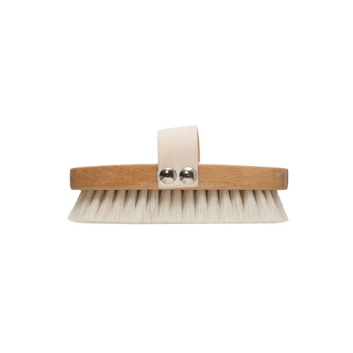 "5"" Beech Wood Bath Brush w/ Elastic Band & Metal Rivets, Natural by Creative Co-op"
