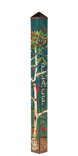"Peace Tree 60"" Art Pole by Studio-M"
