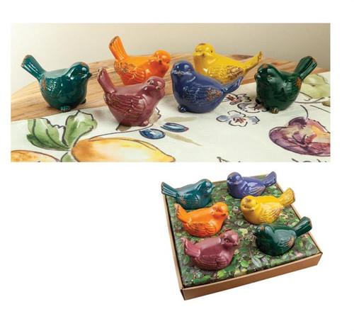 Ceramic Bird Nest  ~  Set of 6