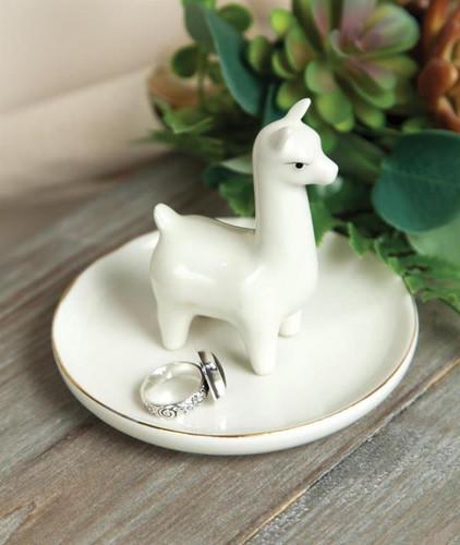 Ceramic Llama Ring Dish