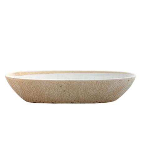 White Boat Ceramic Planter