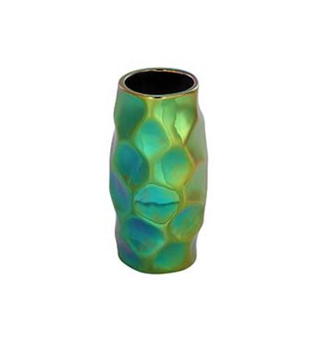 """7"""" Rainbow Electroplated Ceramic Vase"""