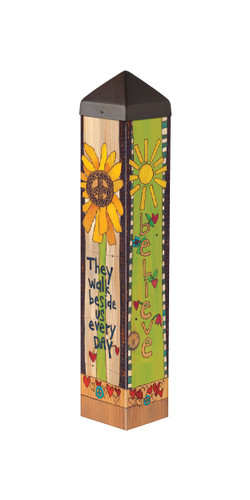 """With Us Everyday 20""""  Art Pole"""