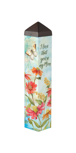 "Flowers for Mom   20""  Art Pole"