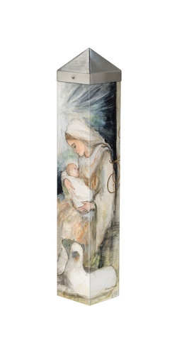 """Mother and Child 20""""  Art Pole"""