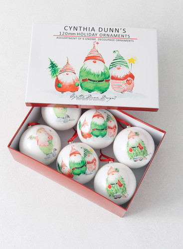 Gnome  Ornaments  by Cynthia Dunn Set of 6