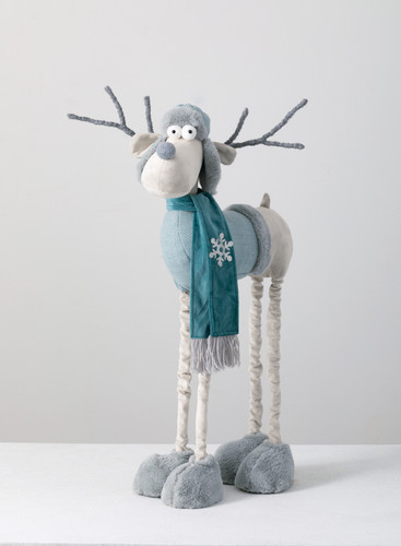 "30"" Standing Moose with Telescopic Legs"